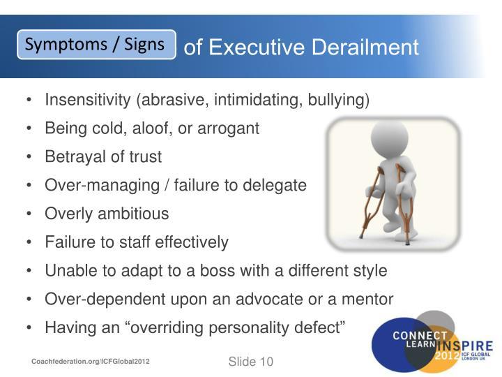 Executive Derailment: