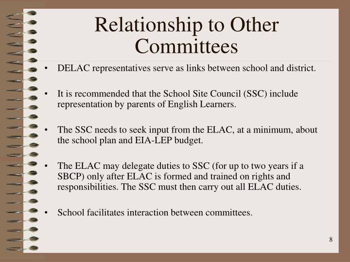 Relationship to Other Committees