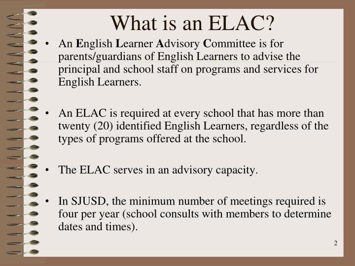 What is an ELAC?