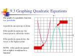9 3 graphing quadratic equations1