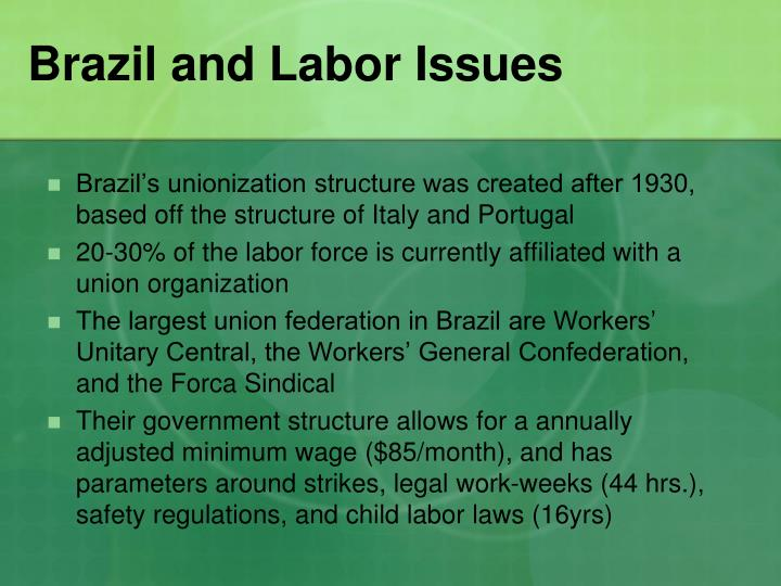 Brazil and Labor Issues