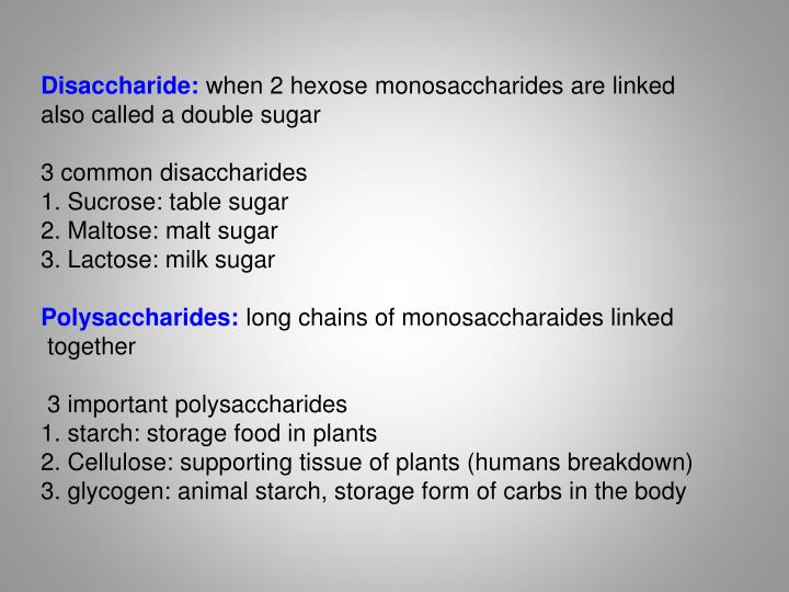 Disaccharide:
