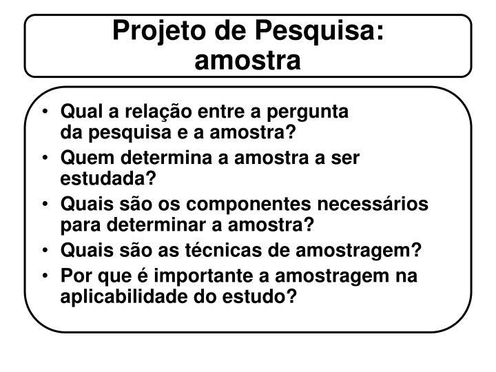 Projeto de Pesquisa: