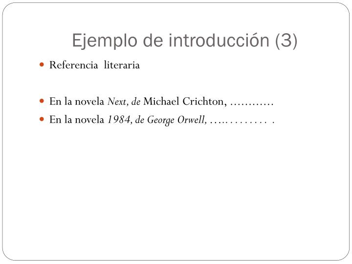 Ejemplo de introducción (3)