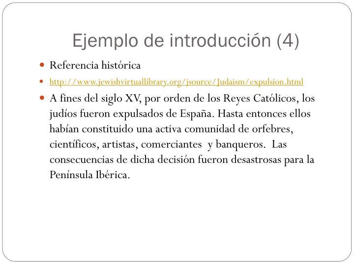 Ejemplo de introducción (4)