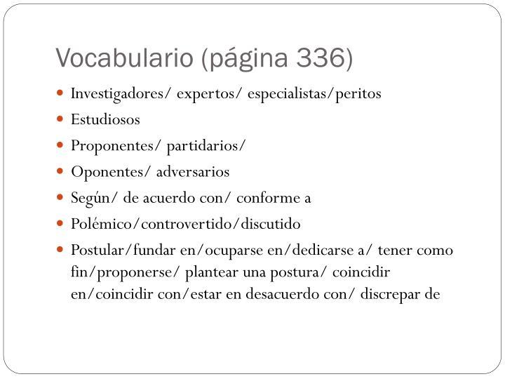 Vocabulario (página 336)
