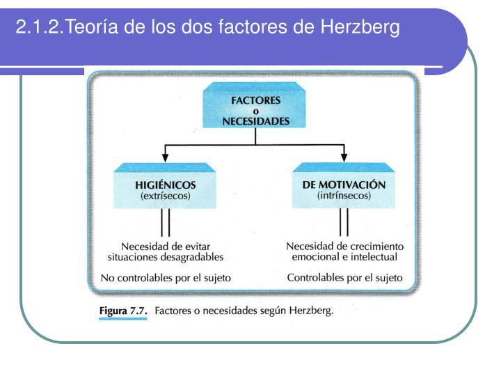 2.1.2.Teoría de los dos factores de Herzberg