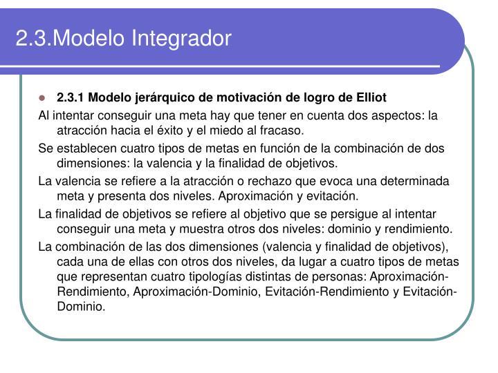 2.3.Modelo Integrador