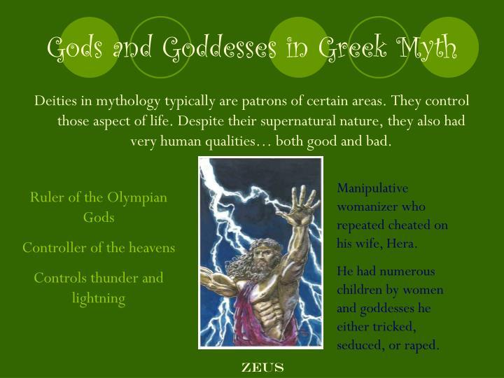 Gods and Goddesses in Greek Myth