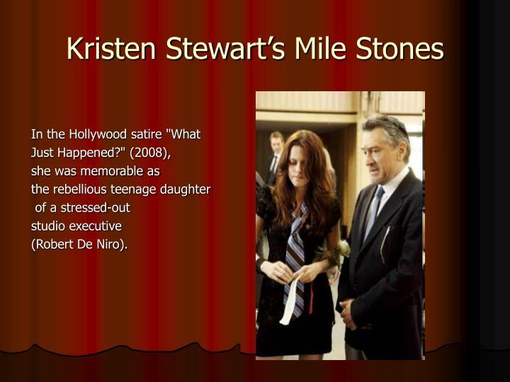 Kristen Stewart's Mile Stones