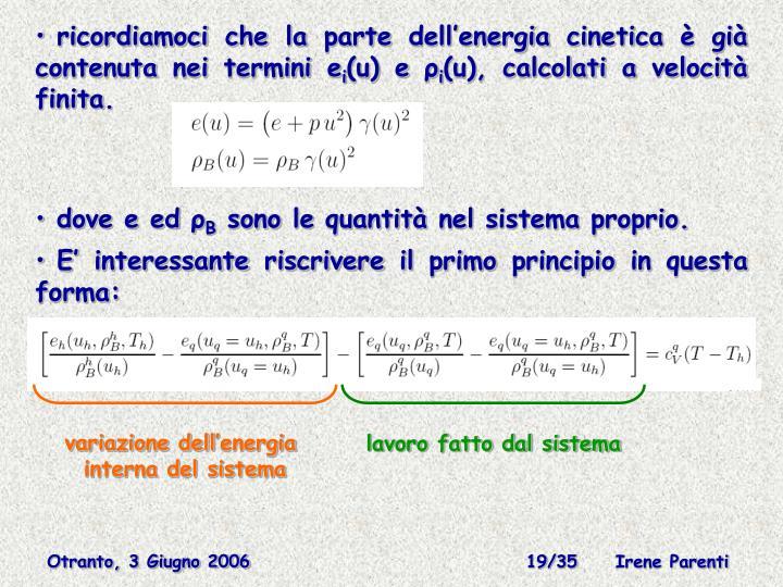 variazione dell'energia
