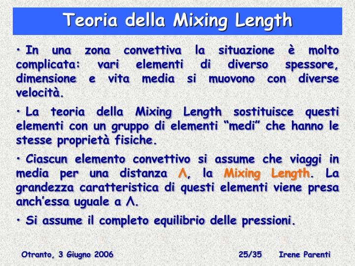 Teoria della Mixing Length