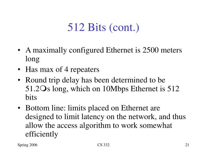 512 Bits (cont.)