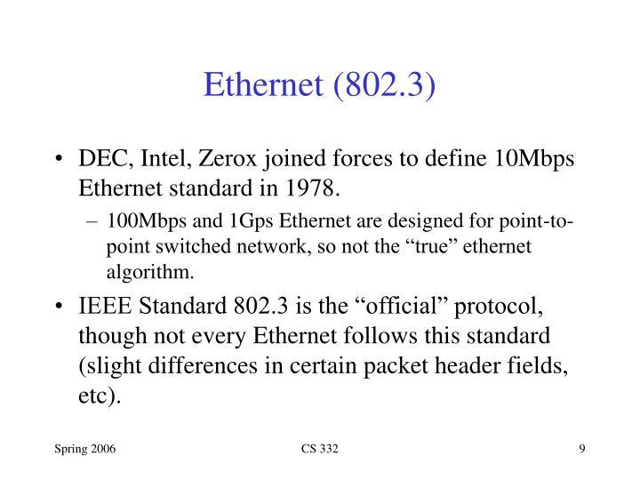 Ethernet (802.3)