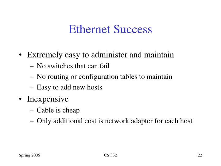 Ethernet Success