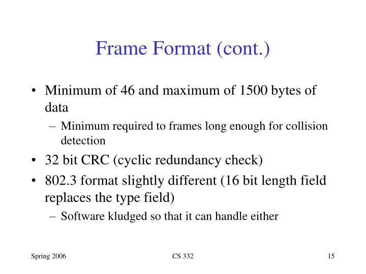Frame Format (cont.)