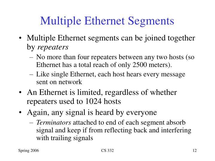 Multiple Ethernet Segments