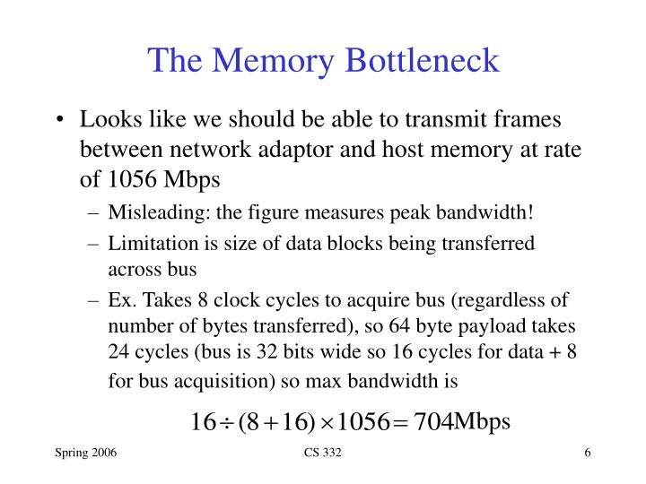 The Memory Bottleneck