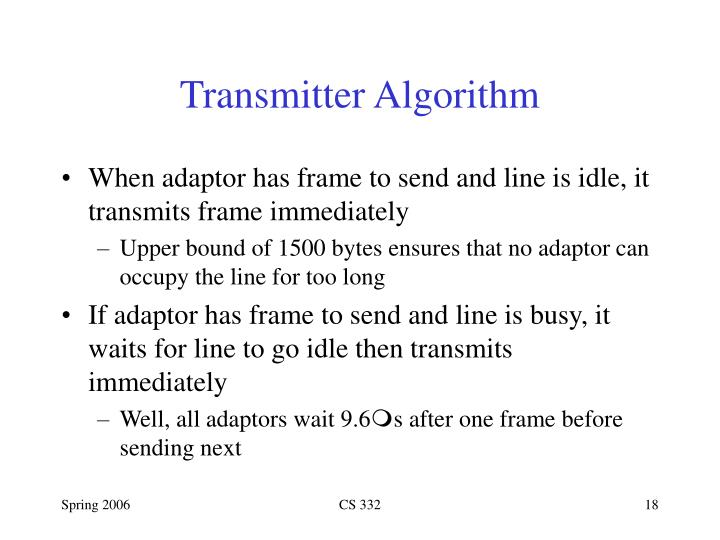 Transmitter Algorithm
