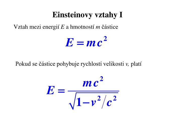 Einsteinovy vztahy I