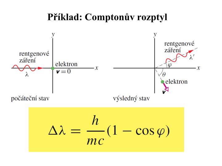 Příklad: Comptonův rozptyl
