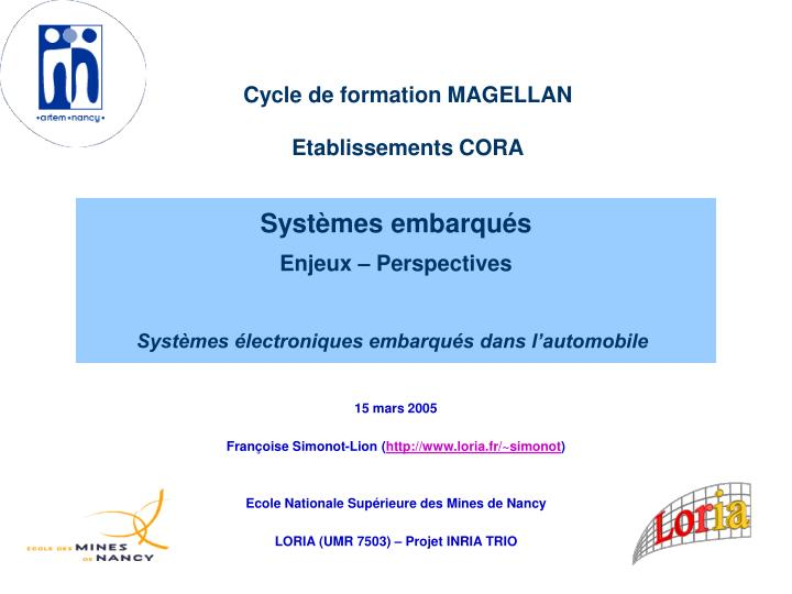 Cycle de formation MAGELLAN