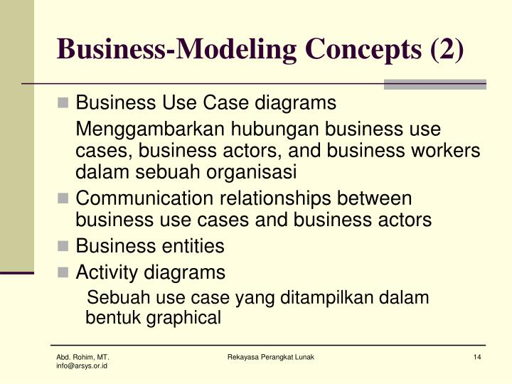 Business-Modeling Concepts (2)