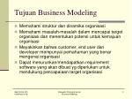 tujuan business modeling
