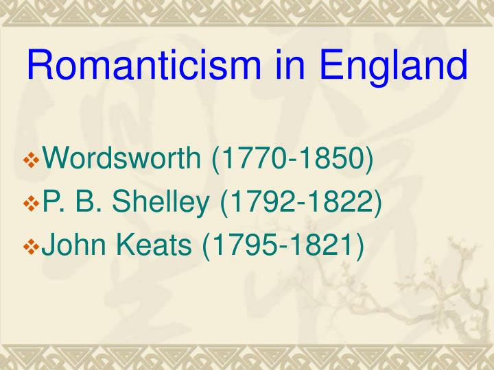 Romanticism in England