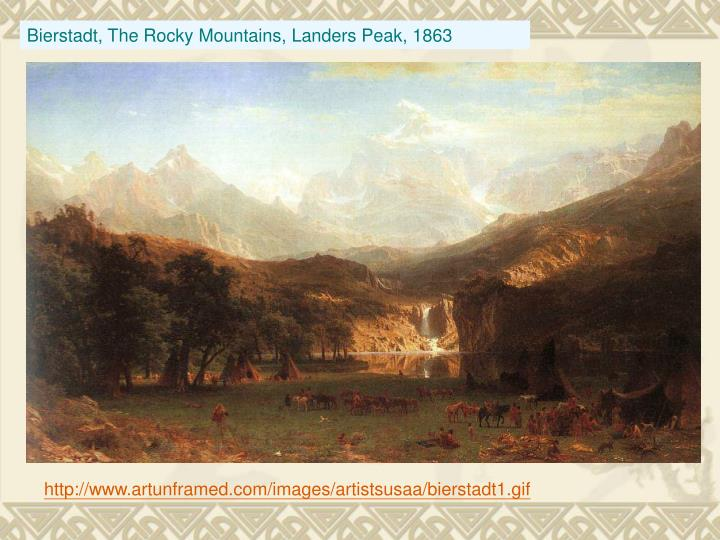 Bierstadt, The Rocky Mountains, Landers Peak, 1863