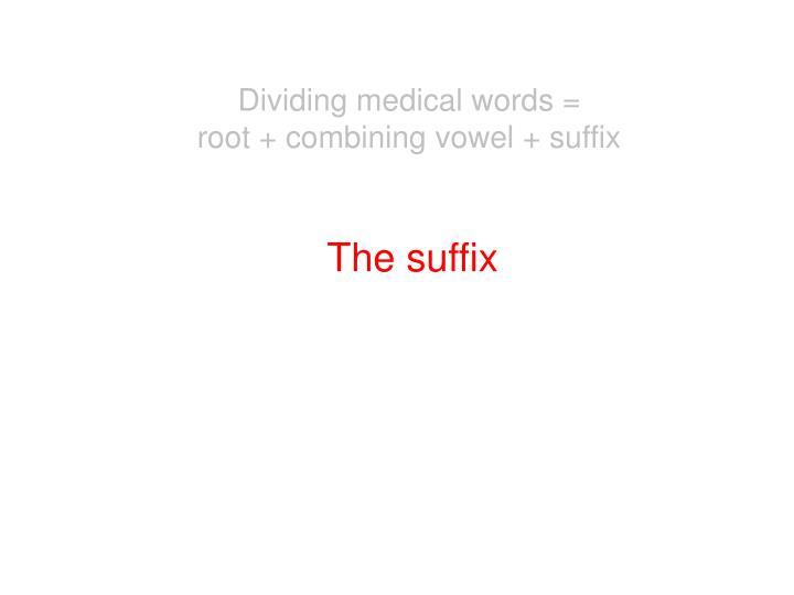 Dividing medical words =