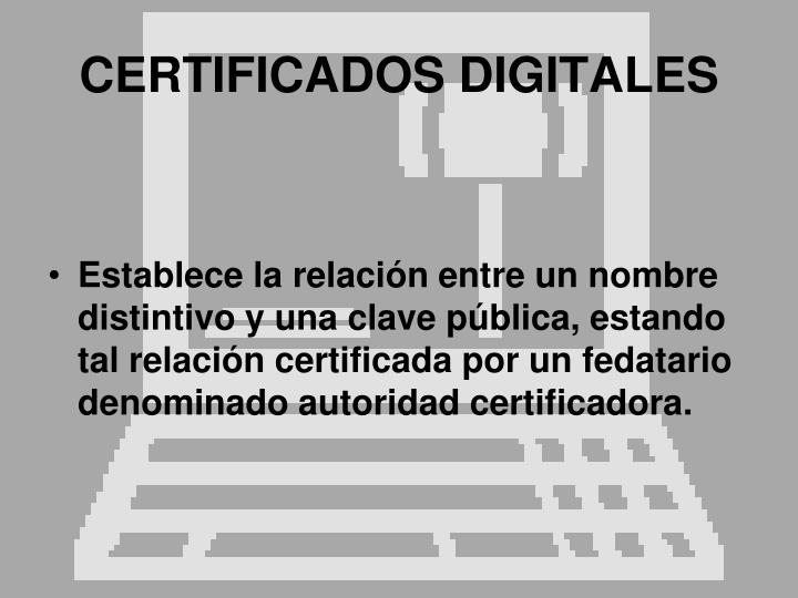 CERTIFICADOS DIGITALES