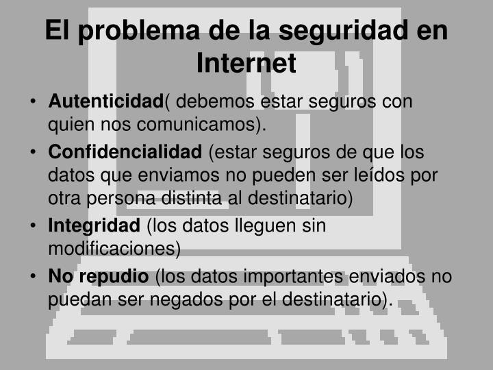 El problema de la seguridad en Internet