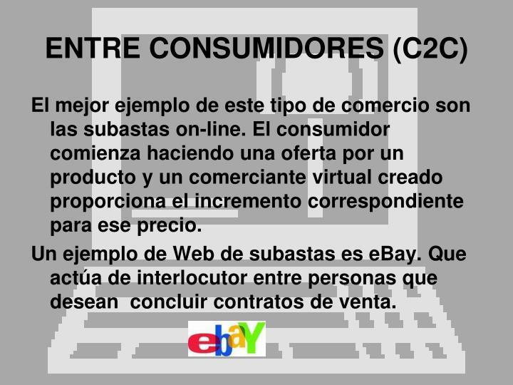 ENTRE CONSUMIDORES (C2C)