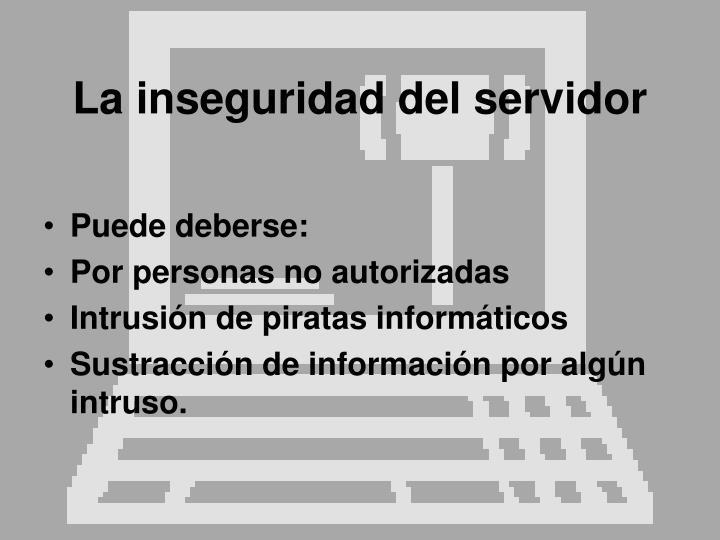 La inseguridad del servidor