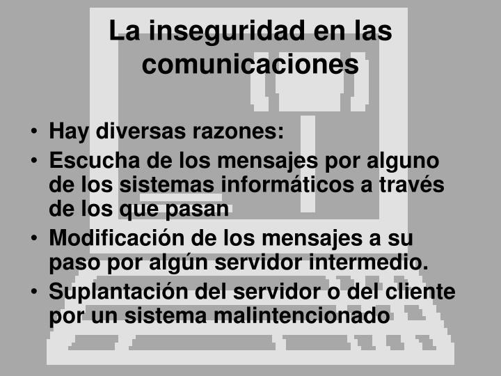 La inseguridad en las comunicaciones