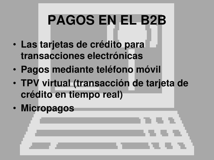 PAGOS EN EL B2B