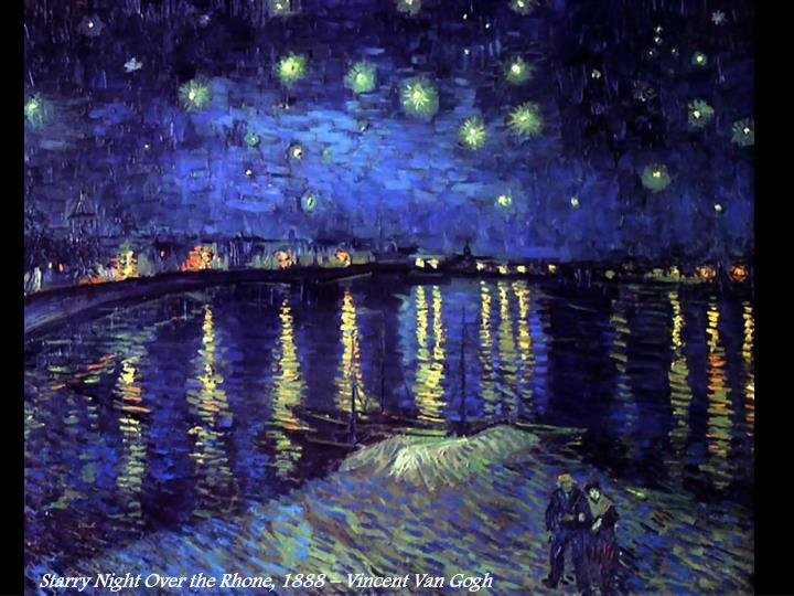 Starry Night Over the Rhone, 1888 – Vincent Van Gogh