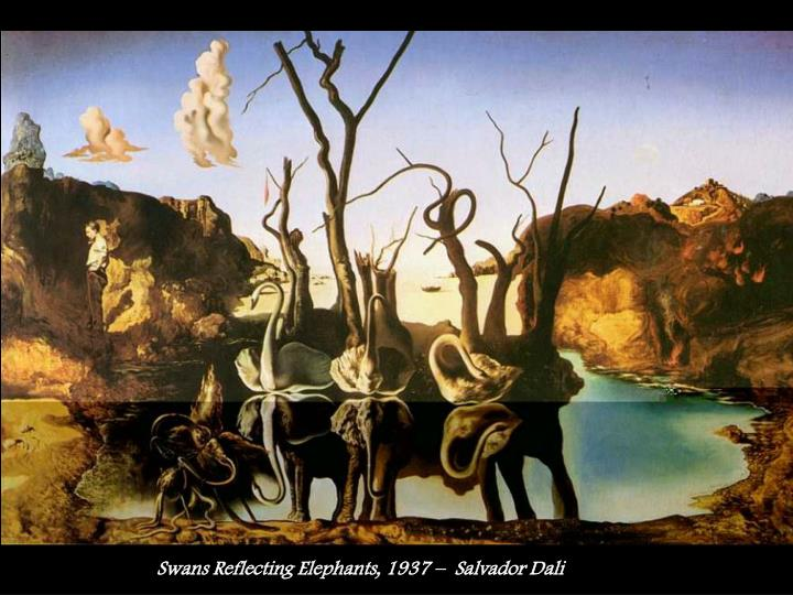 Swans Reflecting Elephants, 1937 –  Salvador Dali