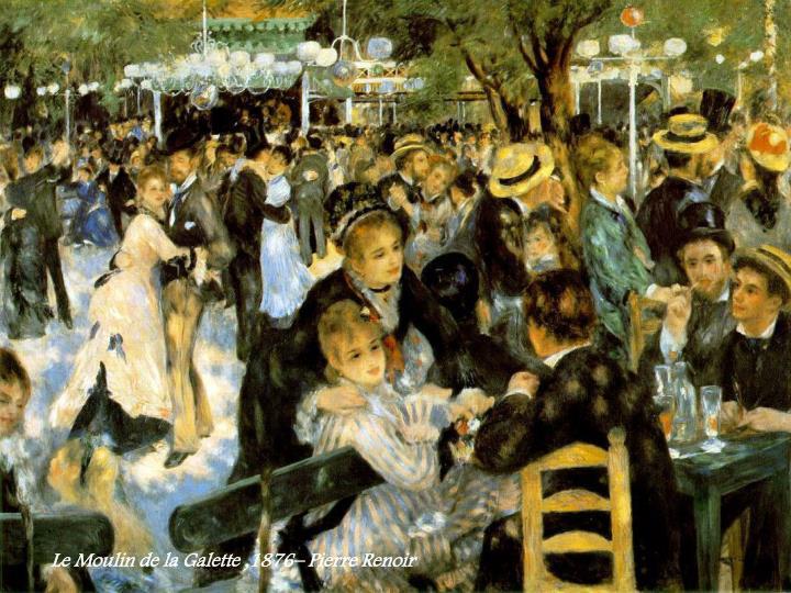 Le Moulin de la Galette ,1876– Pierre Renoir