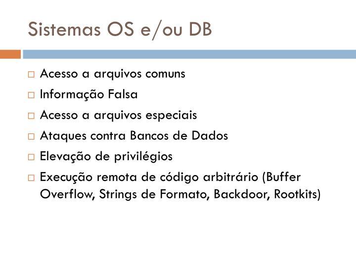 Sistemas OS e