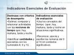indicadores esenciales de evaluaci n