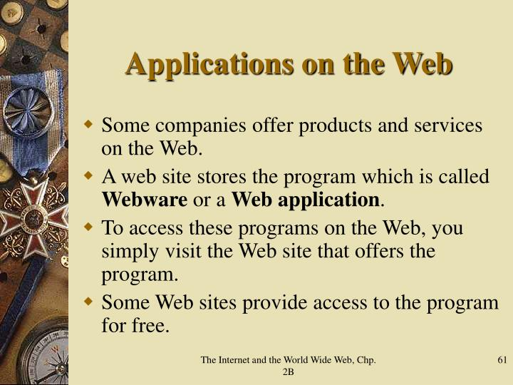 Applications on the Web