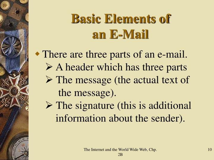 Basic Elements of