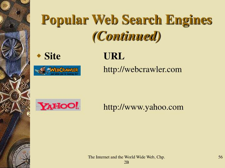 Popular Web Search Engines