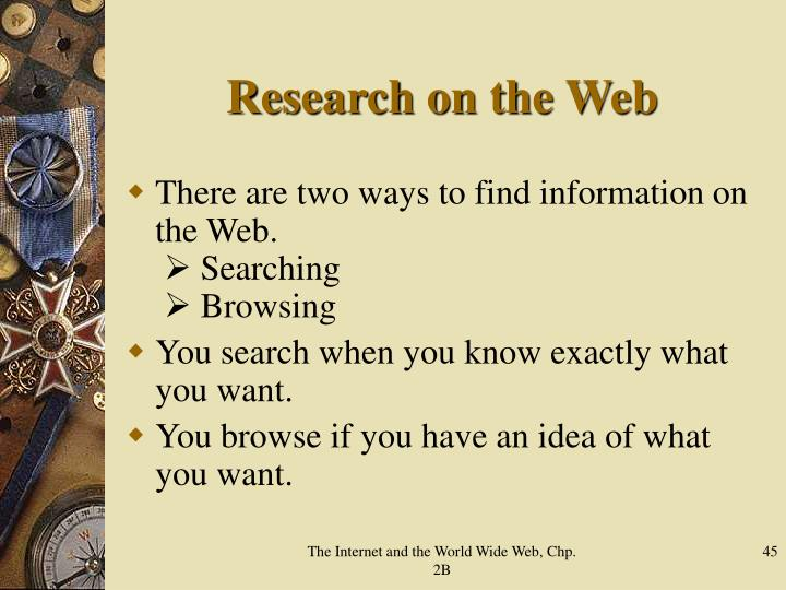 Research on the Web