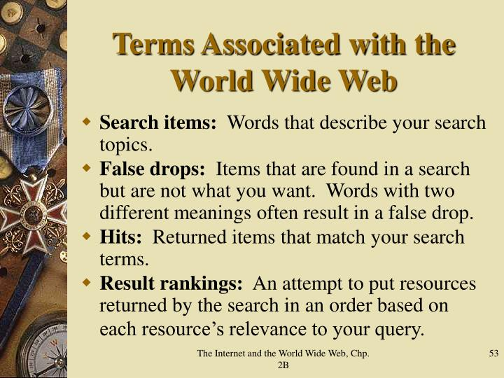 Terms Associated with the World Wide Web