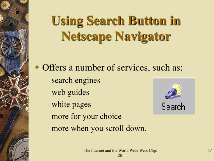 Using Search Button in Netscape Navigator
