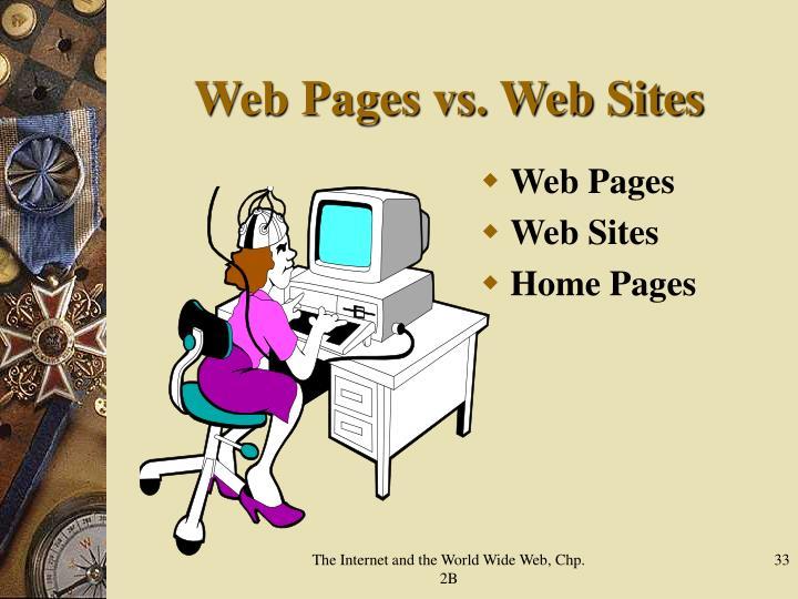 Web Pages vs. Web Sites
