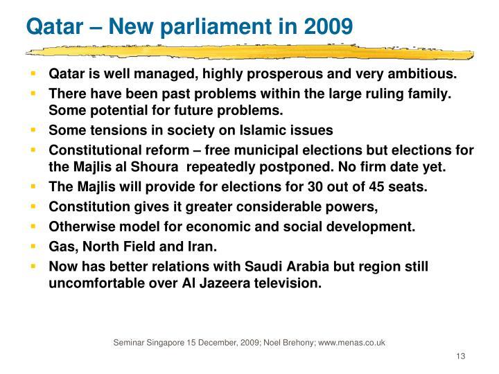 Qatar – New parliament in 2009